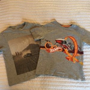 Two Hot Wheels Gap Tees, Size 5t